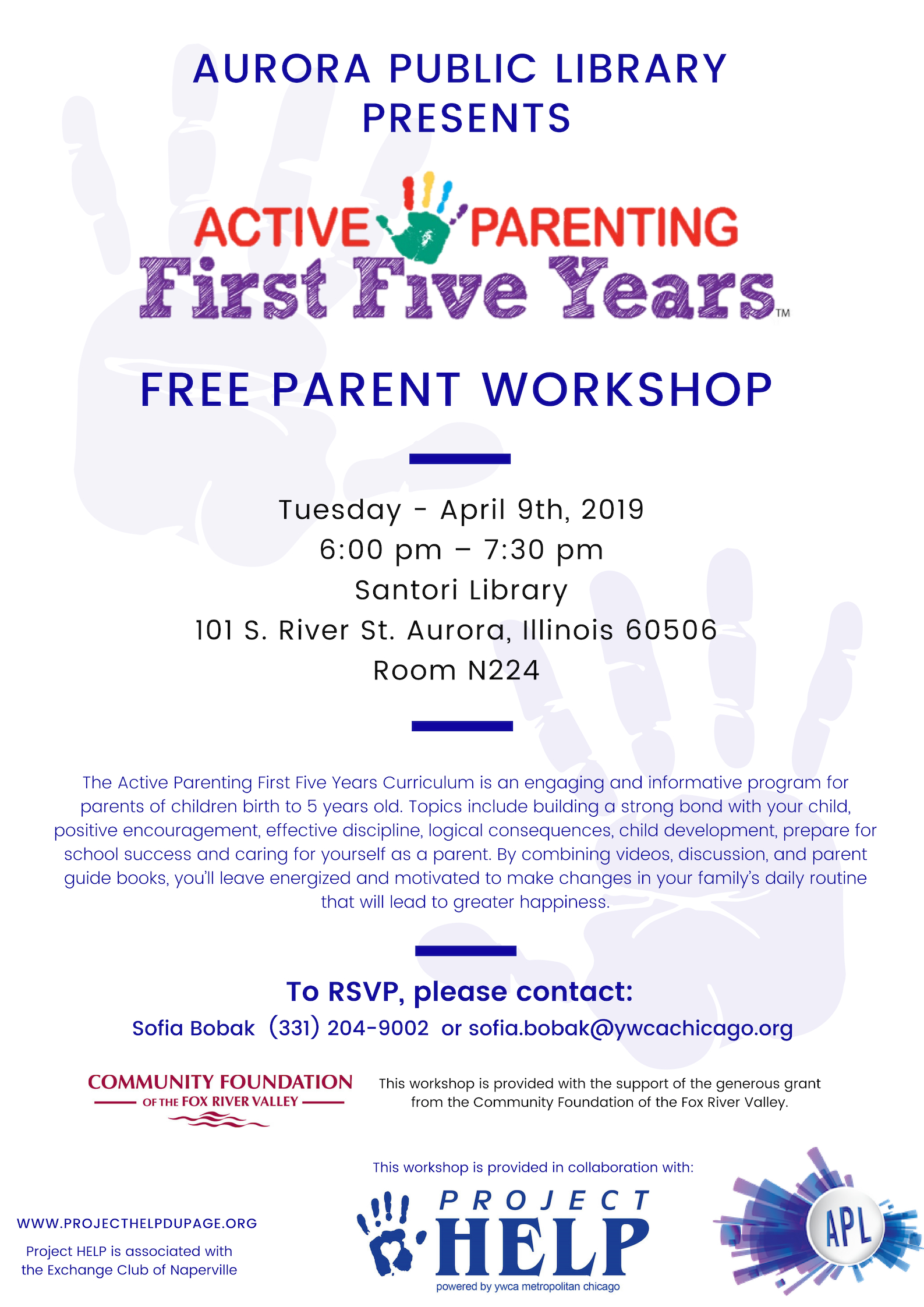 Active Parenting First Five Years Workshop - English and Spanish @ Santori Library