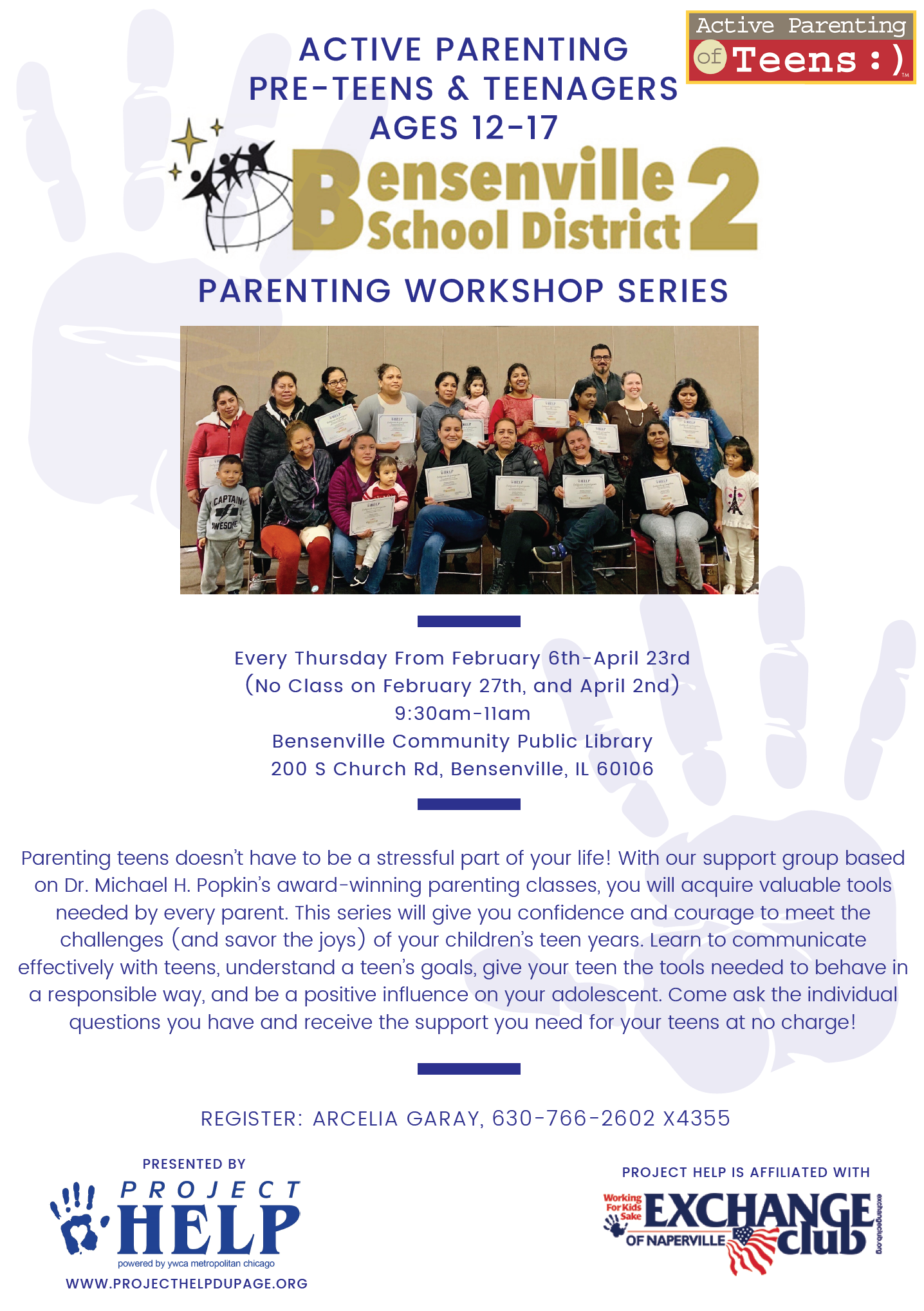 Bensenville Active Parenting Pre Teens and Teenagers Workshop Series @ Bensenville Community Public Library